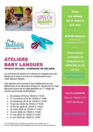 Atelier Baby Langues du 15.12.2019